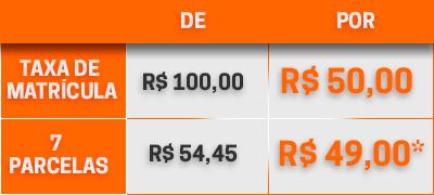 Tabela preço RH